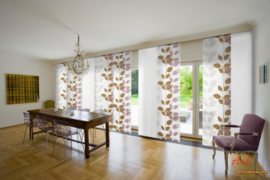 Japanese Curtains Are Good In Spacious Premises With Big Windows. Such  Fabric Panels Can Also Be Used To Zone Space. They Are Mostly Fixed To A  Ceiling, ...