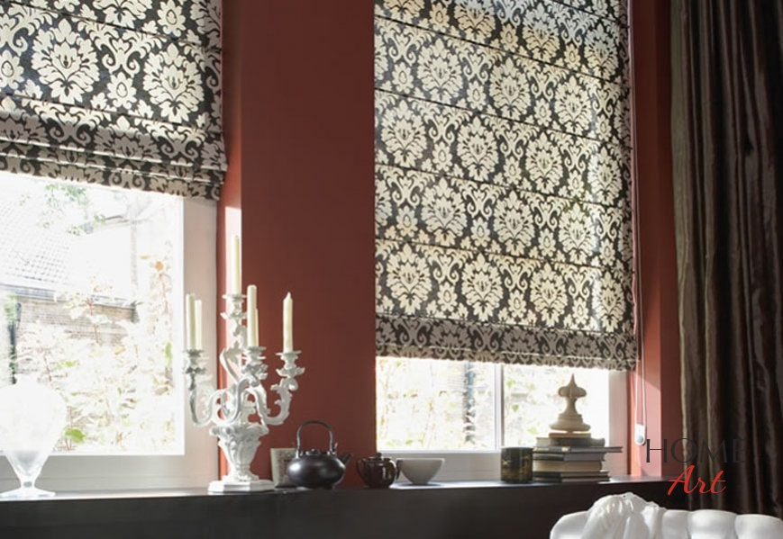 Blinds And Curtains On Same Window roman blinds   home art